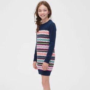 NWT GAP Fair Isle Sweater Dress Girls